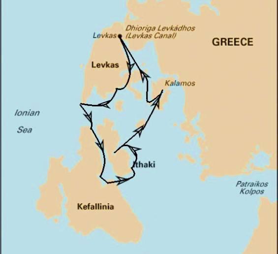 Yoga & Sailing Retreat: Ionian Sea 2020 - Itinerary